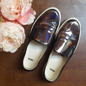 Asos, Slip On, Bronx Oil Slick, 39 (SMALL!)